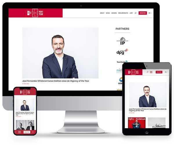 Sitio web de Agency of the year
