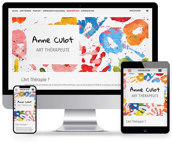 Sitio web Anne Culot Art Therapeute