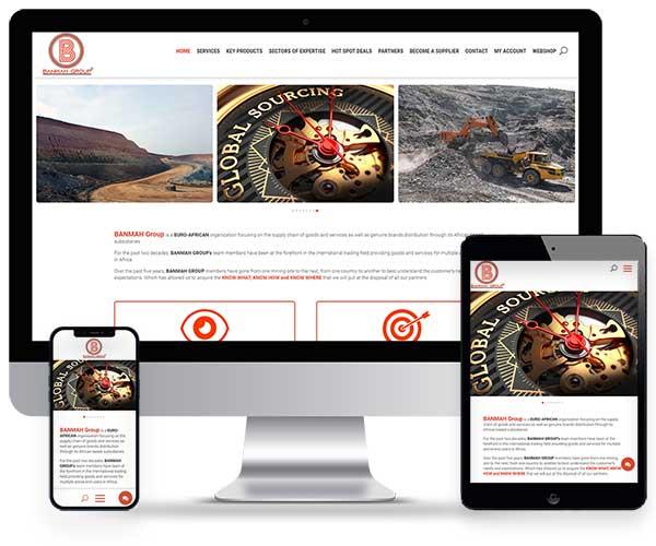 Sitio web de Banmah Group