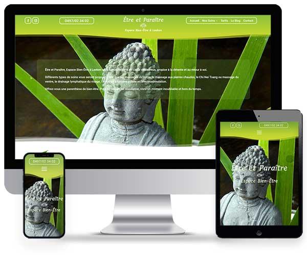 Sitio web de Être et Paraitre