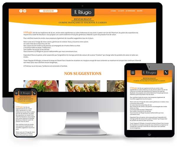 Sitio web de Il Rifugio Pizzeria
