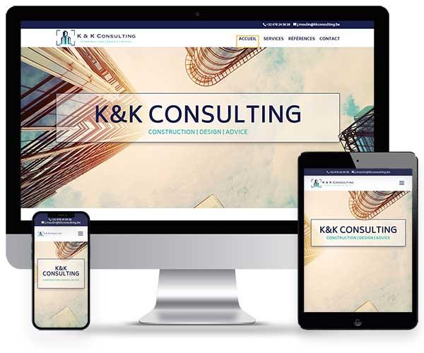 Sitio web kk Consulting